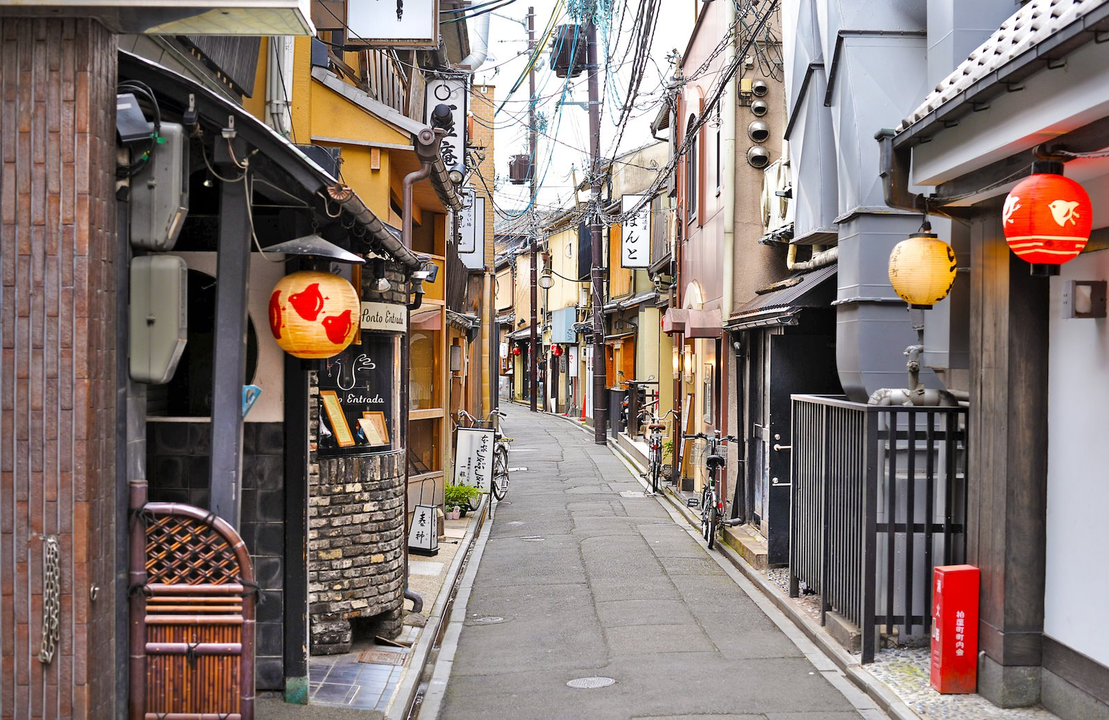 The backstreets of Kyoto